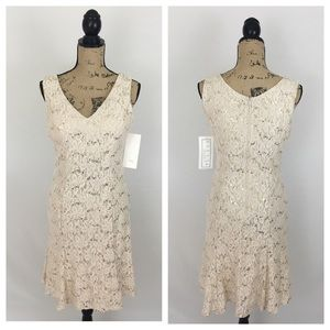 Cream lace dress a-line by Fiesta Fashion NWT